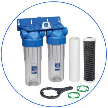 Φίλτρο Κάτω Πάγκου 10″ Διπλό Υψηλής Πίεσης Home Solution Eco