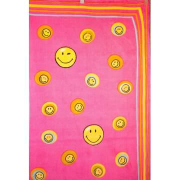Χαλί SMILEY 140X200 σχ. 8901 χρ. ρόζ-φούξ