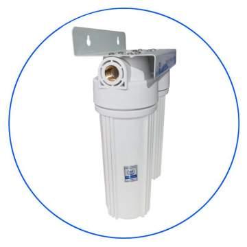 Φιλτροθήκη Διπλή Κεντρικής Παροχής 10″ APTWIN της Aqua Pure