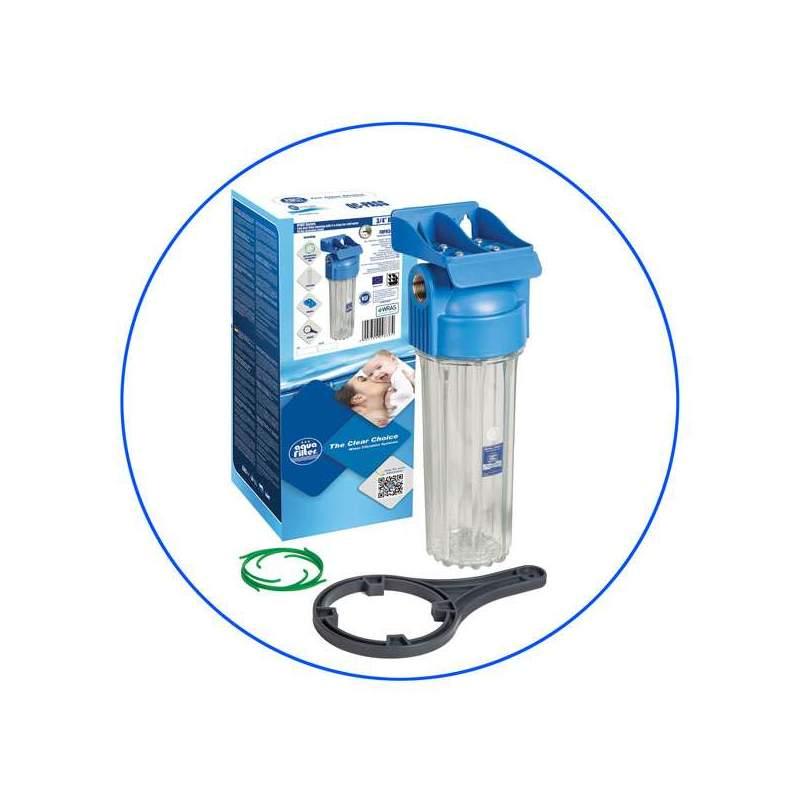 Φιλτροθήκη Μονή 10″ Επαγγελματική FHPR-HP1 1″ Aqua Filter