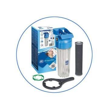 """Φίλτρο Κεντρικής Παροχής 10"""" Με Φίλτρο άνθρακα FCCBL-S 10 μm της Aqua Filter"""