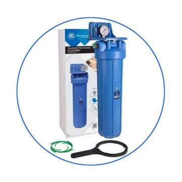 Φιλτροθήκη Επαγγελματική Μονή Big Blue 20″ FH20B1-B-WB Aqua Filter
