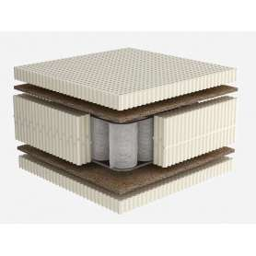 Στρώμα Dunlopillo CELESTE PLUS με Φυσικό Τalalay Latex + ανεξάρτητα ελατήρια + κοκοφοίνικας, Μονό 91-100X200cm