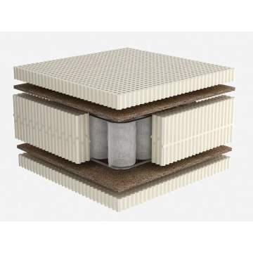 Στρώμα Dunlopillo CELESTE PLUS με Φυσικό Τalalay Latex + ανεξάρτητα ελατήρια + κοκοφοίνικας, Υπέρδιπλο 161-170X200cm