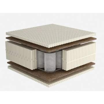 Στρώμα Dunlopillo CELESTE με Φυσικό Τalalay Latex + ανεξάρτητα ελατήρια + κοκοφοίνικα, Μονό 91-100X200