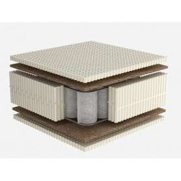 Στρώμα Dunlopillo CELESTE με Φυσικό Τalalay Latex + ανεξάρτητα ελατήρια + κοκοφοίνικας, Ημίδιπλο 121-130X200cm