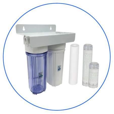 Φίλτρο Κάτω Πάγκου 10″ Διπλό Aποσκλήρυνσης Aqua Pure