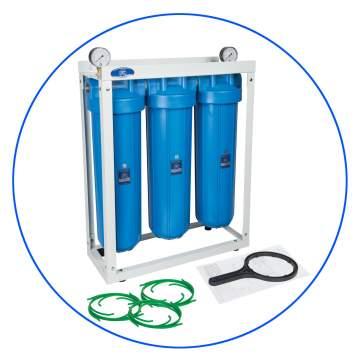 Επαγγελματικό Τριπλό Φίλτρο Big Blue FH20B-WB 20″