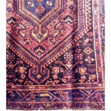 Χαλί χειροποίητο ολόμαλλο HAMADAN Πακιστανικό 148Χ210 χρ. βυσσινί