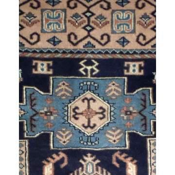Χαλί χειροποίητο ολόμαλλο DELUXE Πακιστανικό 125Χ194 σχ. 34709 χρ. μπλέ