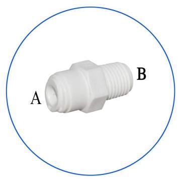 Κούμπωμα Ασφαλείας in-line 1/4″ για Φίλτρα Νερού AQ-AxMCx-W