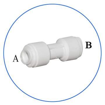 Κούμπωμα Ασφαλείας Ευθείας in-line για Φίλτρα Νερού AQ-AxUCx-W