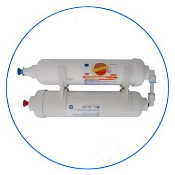 Φίλτρο Ψυγείου 2ο Σταδίων με Αποσκλήρυνση in-line της Aqua Filter